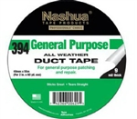 "Nashua, 0394020000, 1.89"" x 60 YD, 48mm x 54.9m, 9 Mil, Silver Duct Tape, General Purpose"