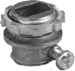 "Halex, 0580, 3/8"" x 1/2"" Knockout Box Connector, For Armored Cable"