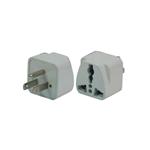 CONECT IT, 10-036, FOREIGN TRAVEL 2 Flat Pins Plus Ground Universal Adapter Plug