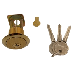"Ultima (Like Wilson 6180 Top Security) Satin Brass US4 18 Pins For Extra Security Rim/Mortise 1-1/8"" Lock Cylinder Combo (Interchangeable), HIGH SECURITY, 3 Dimensional Cross Section Keyway"