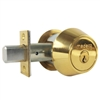 "Medeco, 11-0102-605, Bright Brass, Double Cylinder Deadbolt Key On Both Sides 2-3/8"" Backset, 00 Keyway HIGH SECURITY"