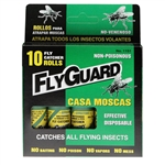 FlyGuard 1151 10 Fly Paper Ribbon Catcher Rolls Catches Most Flying Insects