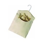 "HOMZ LAUNDRY/SEYMOUR, 1220049, Clothespin Bag Khaki, Holds Over 100 Pins, 11"" x 13"""