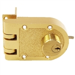 Guard Security 1404B Brass Jimmy Proof Deadlock Deadbot Double Cylinder With Angle Strike And SE1 Keyway Boxed