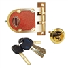 Magnat (Segal, MUL-T-LOCK Like) Solid Bronze Jimmy Proof Deadlock Deadbolt Single Cylinder Lock Set with High Security Rim Cylinder Solid Brass US3 Finish, Bronze (US10) Body, HIGH SECURITY, 006 KEYWAY, 5 Keys