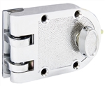 Tuff Stuff, 167PC, Polished Chrome, Jimmy Proof Single Cylinder Deadlock Deadbolt With Flat Strike, Boxed