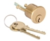 "TSS 1700 (Like Medeco 10-0300) Satin Brass Solid Replacement 1-1/16"" Rim Cylinder Lock Original 00 Keyway HIGH SECURITY"