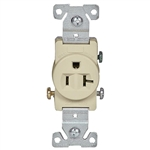 Cooper 1877V Ivory Single Receptacle Outlet 20A-125V 2 Pole 3 Wire Grounded Gfci Receptacle