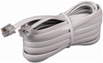 CONECT IT, 20-015WH, White, 15' Modular Line Phone Cord