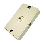 CONECT IT, 20-513, Ivory, Surface Mount, 3 Way Modular Phone Jack Wall Plate