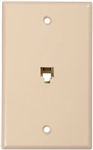 CONECT IT, 20-519, Ivory, Flush Mount, Modular Phone Jack Wall Plate