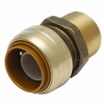 "EZ-Bite 2012026 1"" x 1"" Male Iron Pipe Straight Connector, Sharkbite Push Fit Fittings For Use With Copper Tubing CTS, CPVC & Pex"