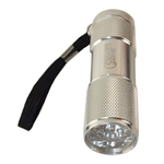 Power Zone 216-7591 Aluminum Mini 9 LED Flashlight (Requires 3 AAA Bateries)