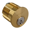 "Marks, 2161/26d-1C, 1-1/8"" Mortise Cylinder, Solid Brass, With 2 Keys Boxed"