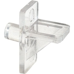 "Slide-Co, 241946, 12 Pack, Clear Plastic, 1/4"" Shelf Support Peg"