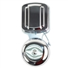 "Trine 272 Bright Chrome 2-1/2"" Open Bell/Open Gong Electric Door Bell With 100DB Sound At 3 Feet"