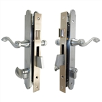 Marks Thinline Slim Line, 2750B/26D, Satin Chrome, Left Hand, Mortise Entry Lever Plate Trim Set Lockset Single Cylinder Lock Set