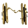 Marks Thinline Slim Line, 2750B/3, Brass, Right Hand, Mortise Entry Lever Plate Trim Set Lockset Single Cylinder Lock Set
