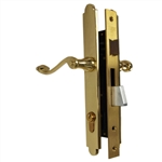 Marks Thinline Slim Line, 2750C/3, Brass, Right Hand, Mortise Entry Lever Plate Trim Set Lockset Double Cylinder Lock Set