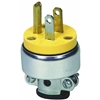 Cooper Wiring Devices 2867-BOX 15-Amp 2-Pole 3-Wire 125-Volt Heavy Duty Grade Armored Vinyl Plug, Yellow