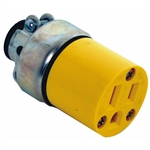 Cooper Wiring Devices 2887-BOX 15-Amp 2-Pole 3-Wire 125-Volt Heavy Duty Grade Armored Vinyl Connector, Yellow