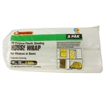 Frost King 2P102027 10' x 20' All Purpose 2.7 Mil Thick Clear Plastic Sheeting House Wrap For Windows Or Doors