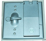 Mulberry, 30456, Aluminium Weatherproof 2 Gang Device Cover, 1 Duplex Receptacle, 1 Toggle Switch