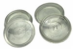 "Faultless, 31905, 4 Pack, 2"", Clear, Round, High-Impact Polystyrene Smooth Base Cups"