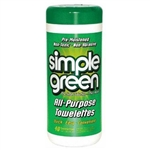 Sunshine Makers, 3810001213312 13312, 40 Count, Simple Green, All Purpose Pre-Moistened Towelettes