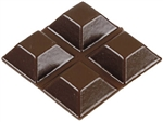 "Brainerd, 444XC, 4 Pack, 1/2"" x 3/16"", Brown, Square, Self Adhesive Vinyl Bumpers"