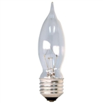 Ge Lighting, 48401, 60CAM, 2 Pack, 60W, 120V, Clear, Bent Tip Light Bulb, Medium Base