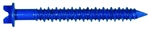 "Tuff Stuff, 50152, Tapcon, 18 Pack, 1/4"" x 1-1/4"" Hex Washer Head Slotted Concrete Screw Anchor Blue"