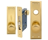 Em-D-Kay (Marks 91A/3-X Like) 5100XR, Wide Face Plate, Right Hand Heavy Duty Brass Mortise Entry Lockset, Surface Mounted Screw-on Knobs Lock Set