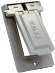 Hubbel Raco 5103-0 Weatherproof Single Gang Vertical Device Mount Cover GFCI