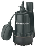 Pentair Water Master Plumber, 540023, Mark II, 1/3 HP, Thermoplastic, Submersible Automatic Sump Pump