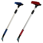 "Hopkins 581-E Mallory Sport 8 Utility Broom Deluxe Telescopic Snow Brush/Scraper/Squeegee Combo Extends From 30"" To 48"" Insulated Cushion Grip - Color Varies 1 Per Order"