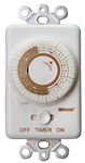 Woods 59745WD In-Wall 24-Hour Mechanical Timer, Converts Wall Light Switch to Timer