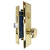 Tuff Stuff Security (Marks 91A Like) 6100AR Right Hand Polished Brass US3 Apartment Mortise Entry Lockset Screw on Knobs, Lock Set