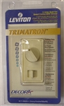 Leviton, 611-6620-I, Ivory, Decora Trimatron 1.5 Amp Quiet Fan Speed Control And 300 Watt Light Dimmer, Ceiling Fans