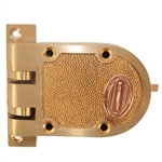 Wilson 6261 Solid Bronze Jimmy Proof Deadlock Deadbolt Single Cylinder Lock With Shutter Guard And Flat Strike