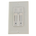 Eagle Electric 6492W-K White Dual Control Dimmer / Fan Combination Single Pole