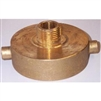 "2 1/2"" Female x 3/4"" Male Solid Brass Fire Hydrant Adapter for Garden Hose Connection"
