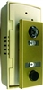 AF Florence - Auth Chimes, 686102, Anodized Gold, Door Viewer And Non Electric Chime Combination, Chime Door Viewer