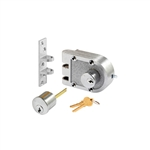 Prime-Line Segal Products, 687DCP, SE 19323 - Brushed Chrome Solid Bronze Double Cylinder Jimmy Proof Deadlock Deadbolt Lock Set, Commercial Grade Locksmith Quality