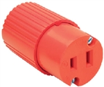 Pass & Seymour, 6882OCC10, 15 Amp, 125 Volt, Orange, Residential Heavy Duty Vinyl Construction Connector, 2 Wire