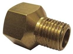 "Brass Adapter, 3/8"" Female Pipe FNPT x 1/8"" Male Pipe MNPT, Lead Free"