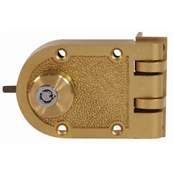 GUARD SECURITY,  707B, Brass, Tubular Key Double Cylinder Jimmy Proof Deadlock Deadbolt With Angle Strike, Boxed