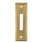 Heath Zenith 715G-1 Wired Push Button, Gold Finish with Lighted White Center Button