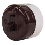 Pass & Seymour, 735CC10, 10A, 125V, 5A 250V, Brown, Single Pole, Surface Mounted Switch