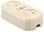 Pass & Seymour, 746ICC10, 15A, 125V, Ivory, Surface Triple Outlet, Easily Mounted On Wall